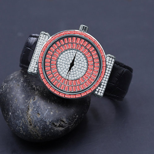 Plaltial Bling Leather Watch | 5110356