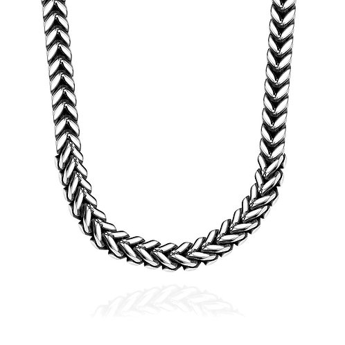 Father's Day Stainless Steel Thick Cut Wheat Design Men's Chain