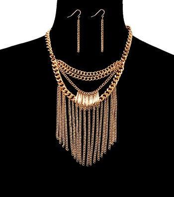 Metal Drop Necklace Set