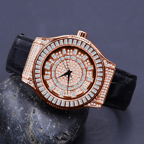Conspicious Bling Leather Watch | 5110365