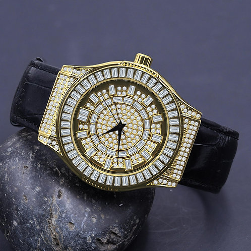 Conspicious Bling Leather Watch | 5110362