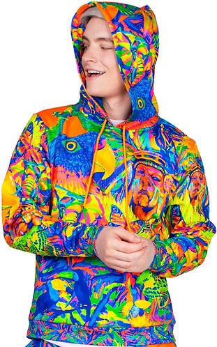 Print Hoodies For Men Women Neon Full Print Pattern Leopard Africa