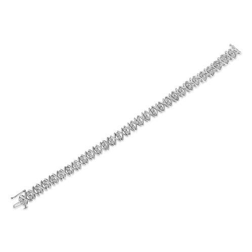 Sterling Silver 1ct TDW Rose-cut Diamond X-Link