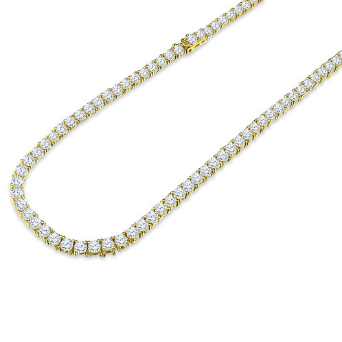 CZ One Row Gold Chain-960022