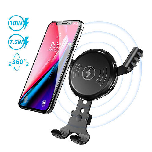10W Wireless Fast Charger Car Mount Air Vent Phone