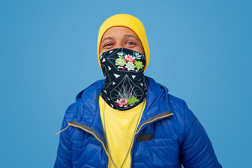 Neck Gaiter/Balaclava/Magic Scarf & Face Mask (Succulent Terrarium)