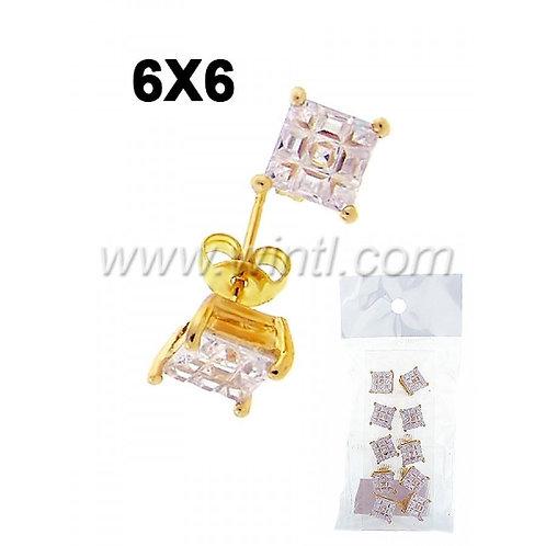 CZ diamond stud earrings