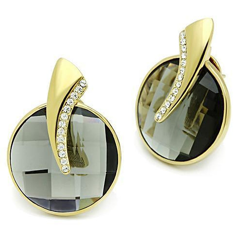 GL343 IP Gold(Ion Plating) Brass Earrings with