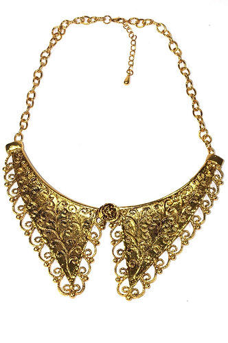 Victorian Style Scroll Work Collar Necklace