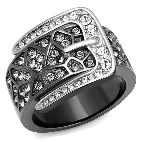 TK2769 Two-Tone IP Black Stainless Steel Ring with