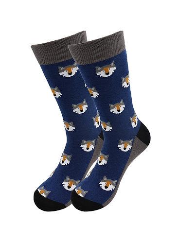 Sick Socks – Wolf Head – Exotic Animals Casual Dress Socks