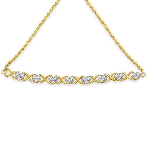 Yellow Plated Sterling Silver 1/10ct TDW Diamond