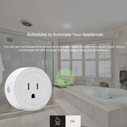 Smart Mini WiFi Plug Outlet Switch work with Echo