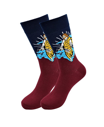 Sick Socks -Jesus – Off The Wall Casual Dress Socks