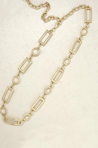 Modern Gold Rectangle Chain Belt