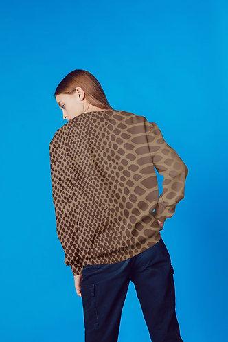 Brown Snakeskin Printed Sweatshirt