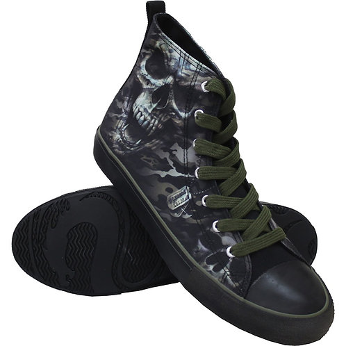 CAMO-SKULL - Sneakers - Mens High Top Laceup