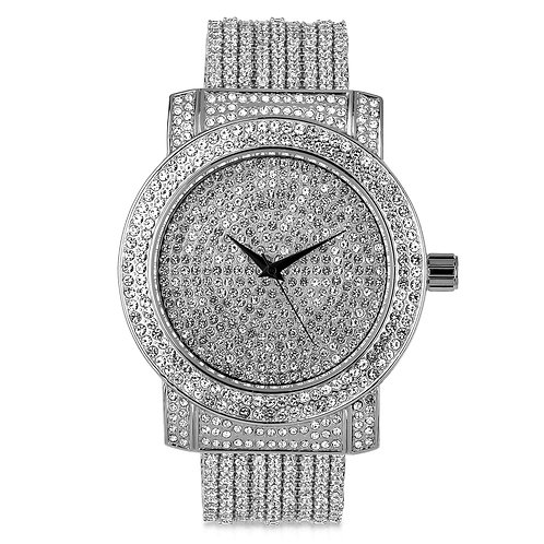 CZ WATCH BAND WITH FULLY ICED OUT DIAL-5110271