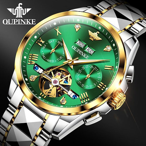 Luxury Men Watches Automatic Sapphire Green Watch Men Tungsten steel
