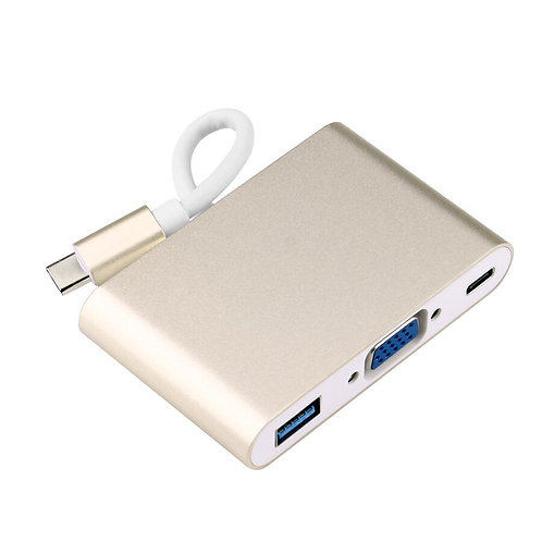 3 IN 1 GOLD PLATED USB 3.1 Type C To VGA