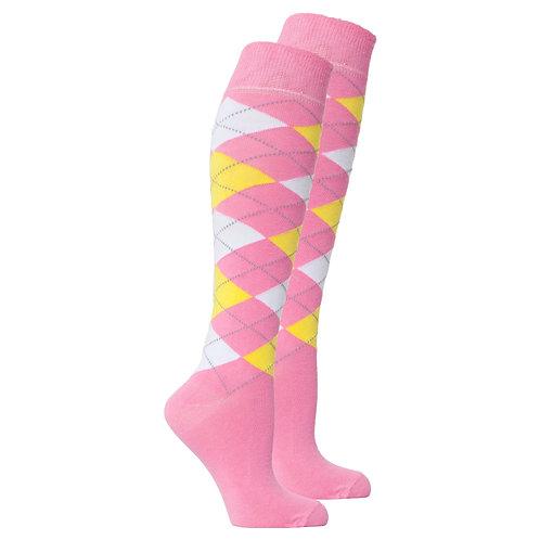 Women's Pink Candy Knee High Socks