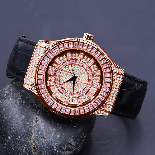 Conspicious Bling Leather Watch | 51103633