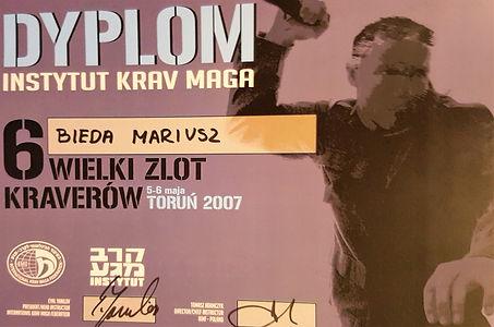 Dyplom uczestnictwa ZLOT KRAVERÓW 2007