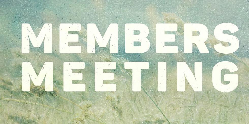 Member Meeting (Topic: TBD)
