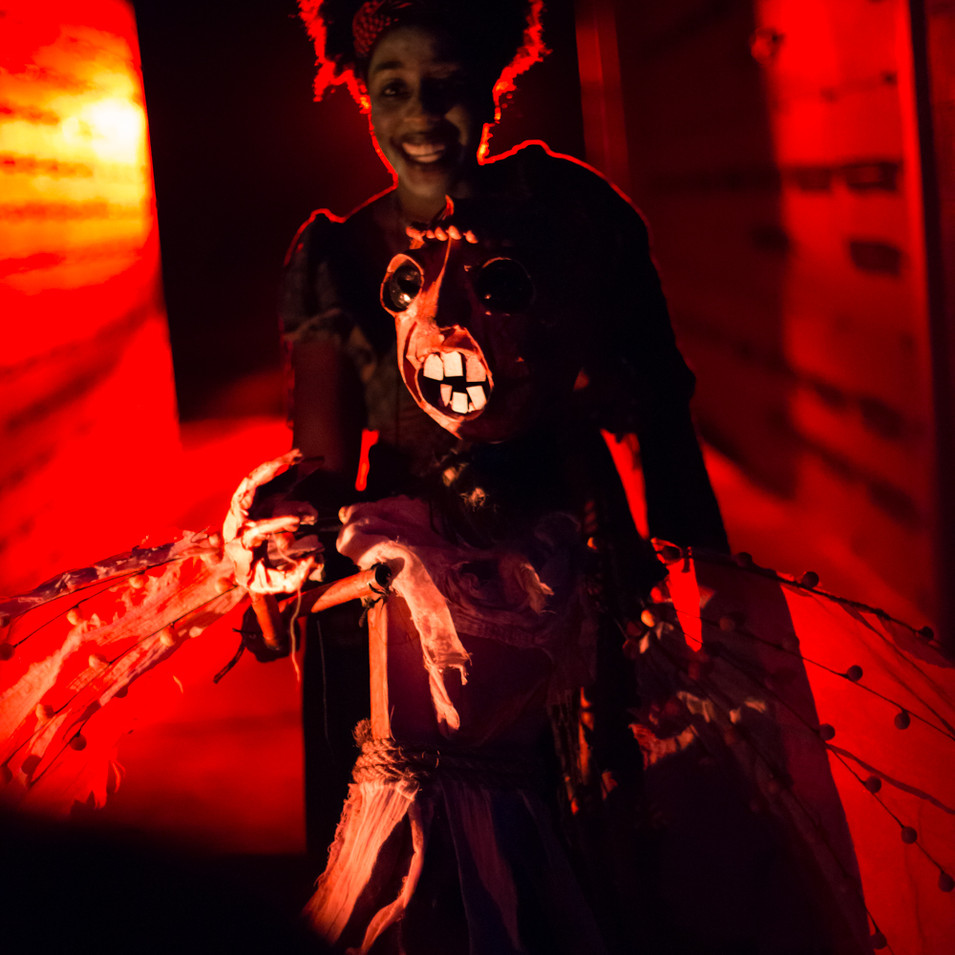 Ariel Brown in Anansi and the Demons. Ph