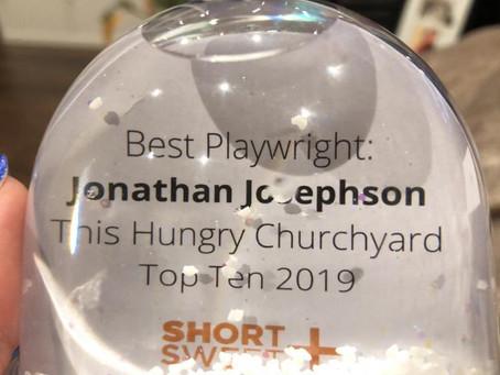 Best Playwright Short+Sweet Dublin