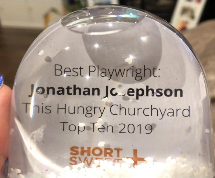 Best Playwright Short+Sweet Dublin - Jonathan Josephson