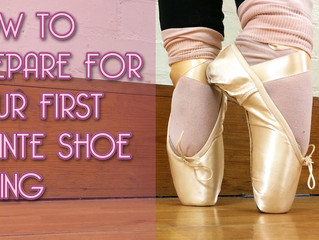 How to prepare for your first pointe shoe fitting.