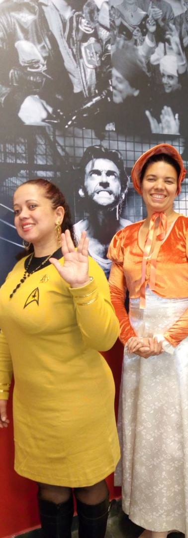 Uniforme Star Trek e Jane Austen