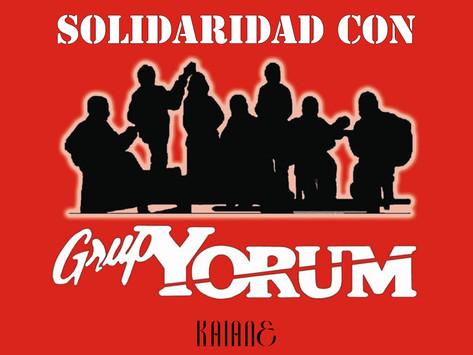 Kaiane se solidariza con el Grup Yorum