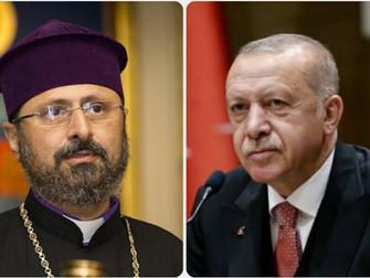 Erdogan le envió una carta al Patriarca armenio de Estambul