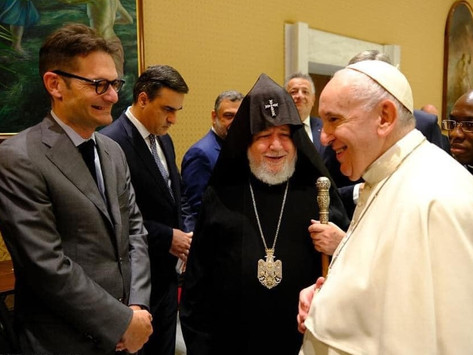 Karekin II visitó al Papa Francisco