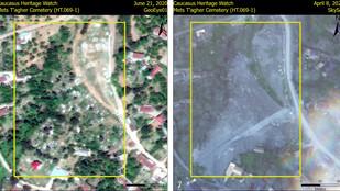 Azerbaiyán destruyó un cementerio armenio