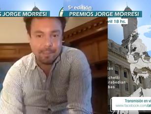 Federico Gaitán Hairabedian recibió el Premio Jorge Morresi por su lucha por los Derechos Humanos