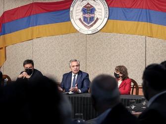 Alberto Fernández se reunió con la colectividad armenia