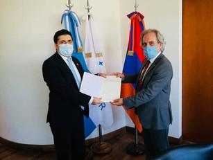 El Embajador de Armenia presentó sus cartas credenciales ante Cancillería