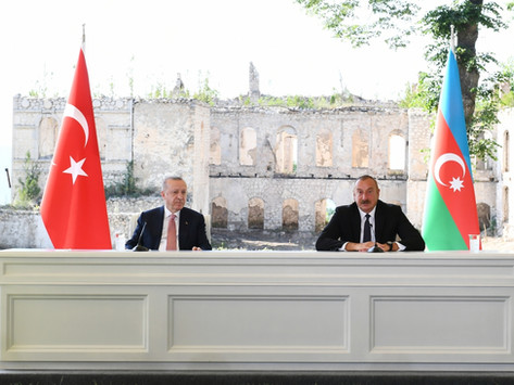 Erdogán y Aliyev visitaron la ocupada Shushí