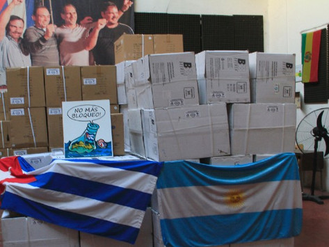 La solidaridad argentina viaja a Cuba