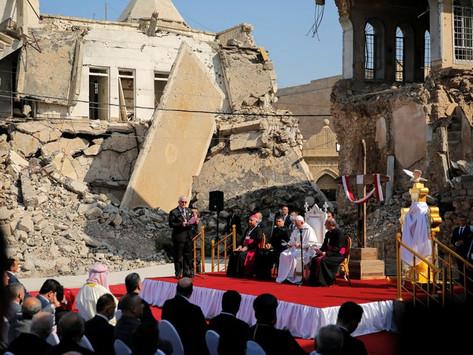 El Papa Francisco visitó la iglesia ortodoxa armenia en Irak