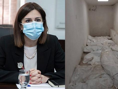En un hospital de Armenia, se encontraron cuerpos de los caídos en la guerra de Artsaj