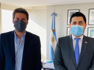Matías Lammens recibió al Embajador de Armenia en Argentina