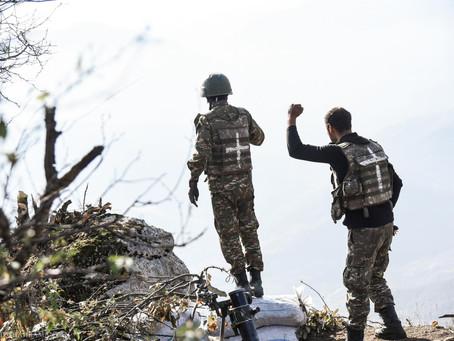 Día 40: Las fuerzas azeríes intentaron izar la bandera de Azerbaiyán en Shushí