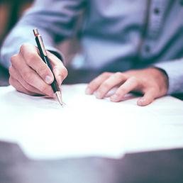 Signature de contrat