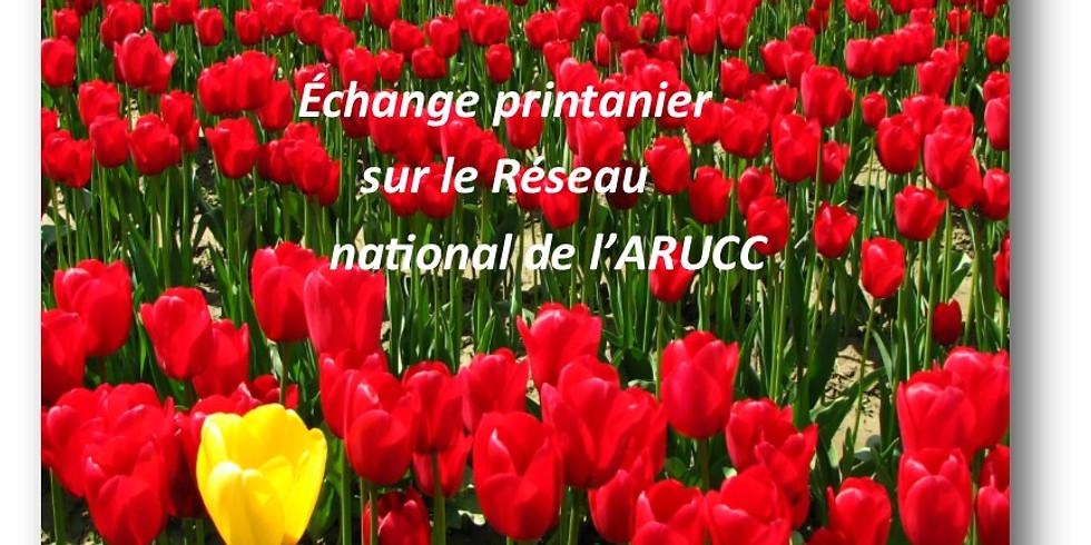 Échange printanier au sujet du Réseau national de l'ARUCC