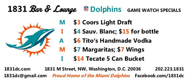 Miami Dolphins Game Watch Specials