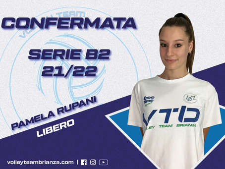Anche Pamela Rupani rimarrà in bianco blu per la prossima stagione!